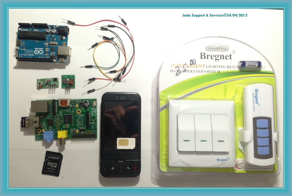 "RF Switch Con Raspberry y Arduino via ""Whatsapp"""